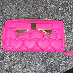 Betsey Johnson Hot Pink Wallet